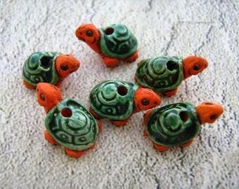 10 Tiny Turtles - orange - CB19
