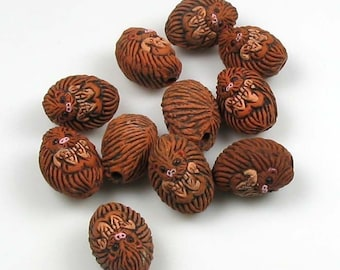 4 Tiny Hedgehog Beads