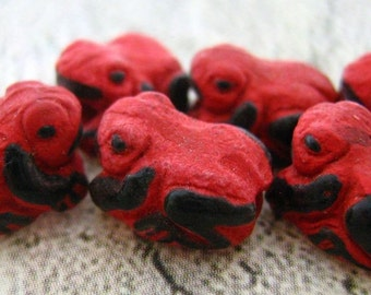 20 Tiny Red Poisen Frogs - CB79