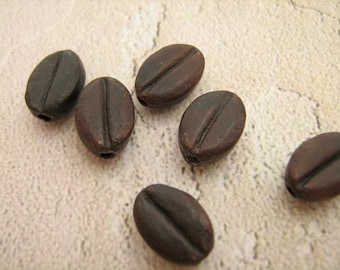 10 Tiny Coffee Beads - CB339