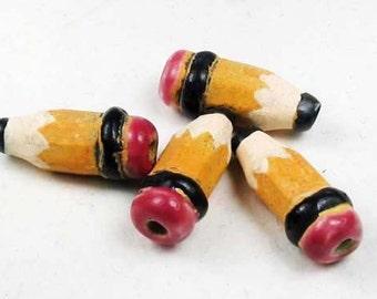 4 Tiny Pencil Beads
