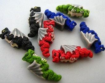 4 Tiny Dragon Beads