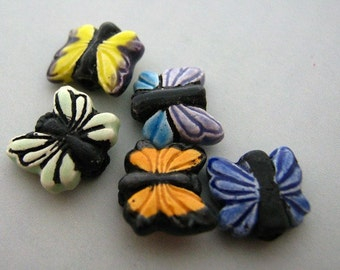 10 Tiny Butterfly Beads