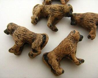 10 Large Baboon Beads - LG175