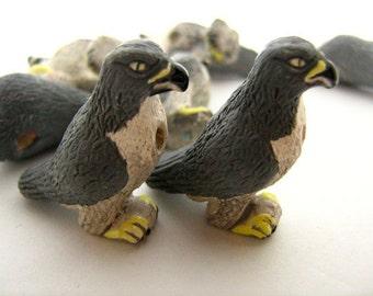 4 Large Peregrine Falcon Beads