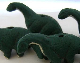 4 Large Brontosaurus Beads - LG215