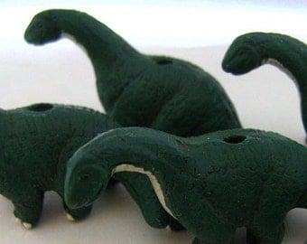 10 Large Brontosaurus Beads - LG215