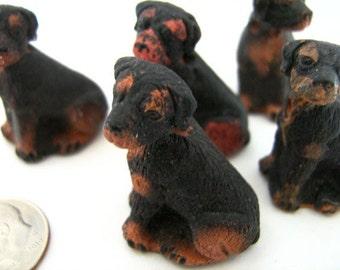 4 Large Rottweiler Beads
