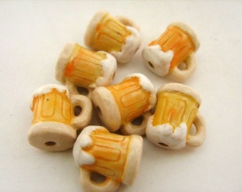 10 Tiny Beer Beads - CB788