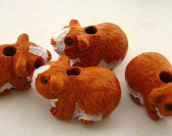 4 Tiny Hamster Beads