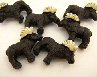4 Tiny Moose Beads - CB793