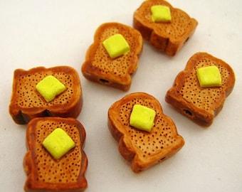 10 Tiny Toast  Beads