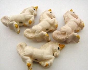 10 Large Unicorn Beads