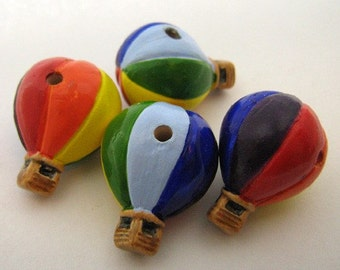 4 Large Hot Air Balloon Beads - LG271