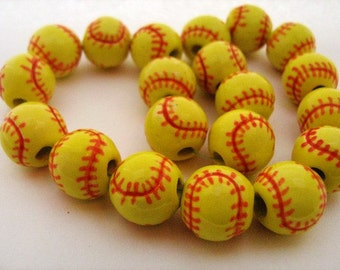 20 Softball Beads - Large(13mm)