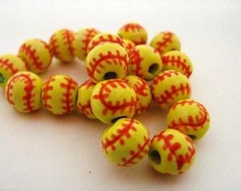 10 Softball Beads - Small (8-9mm)