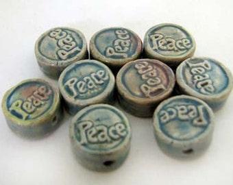 20 Tiny Affirmation Beads - Peace - CB837