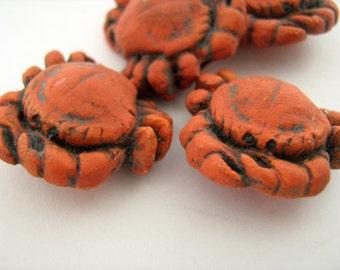 4 Large Crab Beads - LG303