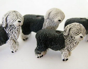 10 Large Sheep Dog Beads - LG307