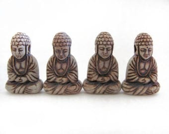 10 Highfired Buddha Pendants/Beads - HIFI 248