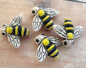 10 Tiny Bumble Bee Beads