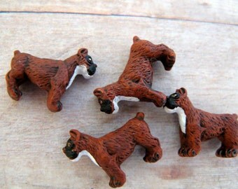 10 Tiny  'Boxer' Dog Beads