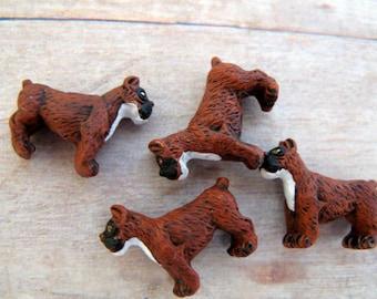 20 Tiny  'Boxer' Dog Beads