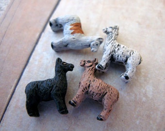 10 Tiny Llama Beads - mixed