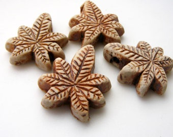 10 Highfired Small Hemp Beads - Pendants