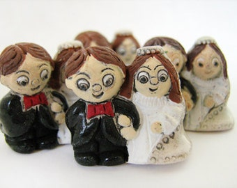 4 Large Wedding Couple Beads - LG336