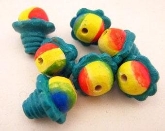 10 Tiny Hawaiian Shaved Ice Beads - CB815