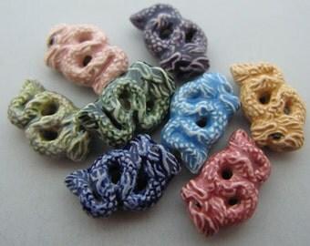 4 Tiny Chinese Dragon Beads - mixed - CB435