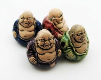 4 Large Buddha Beads