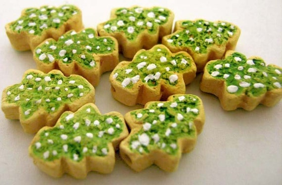 20 Tiny Christmas Tree Cookies