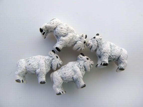 4 Tiny Billy Goat Beads