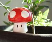 Mario Bros. Super Mushroom (Red) Indoor Garden Planter Decoration