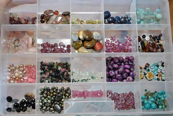 Semiprecious Bead Destash ocean jasper, sugilite, ruby, sapphire, tourmaline, rhodochrosite, turquoise, garnet