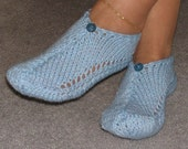 Pair of Sky Blue Pocket Slippers