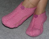 Pair of Rose Petal Pink Pocket Slippers
