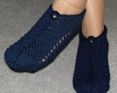 Pair of Midnight Blue Pocket Slippers