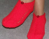 Pair of Firecracker Red Pocket Slippers