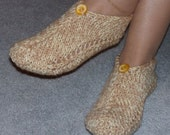 Pair of Butter Cream Pocket Slippers