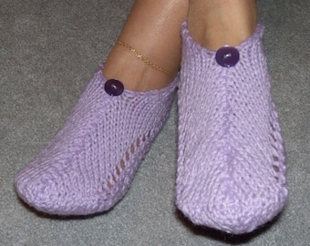 Pair of Majestic Lavender Pocket Slippers