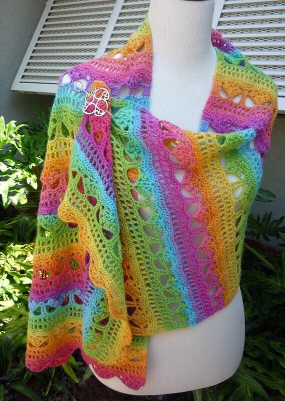 Cascading Stylish Shawl Crochet - PATTERN / PDF