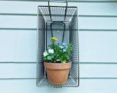 Vintage Metal Basket - Industrial Decor - Cottage Garden