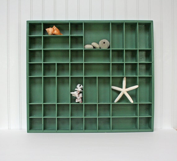 RESERVED for Mary.....Vintage Display, Mid Century Green