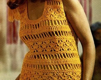 Crochet patterns -  Women's dresses - Instant download pdf pattern