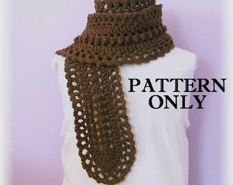 Crochet Pattern - Scarf - Bobbles and Lace - Original