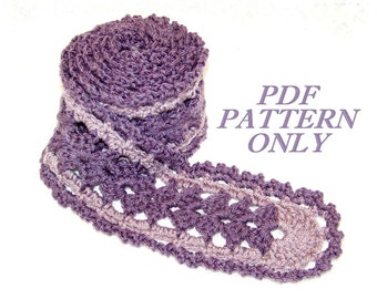 Scarf pattern - Crochet - Original by Cottage Creations For U
