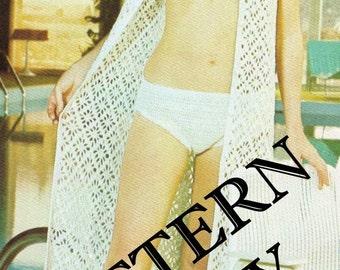 Crochet pattern - bikini with matching jacket - instant download